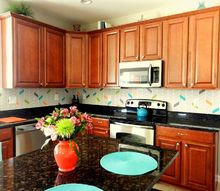 please vote for my diy painted backsplash, kitchen backsplash, kitchen design