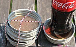 vintage zinc mason jar lid coaster diy, crafts, how to, mason jars, repurposing upcycling