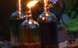 diy tiki torches, how to, lighting, outdoor living, repurposing upcycling