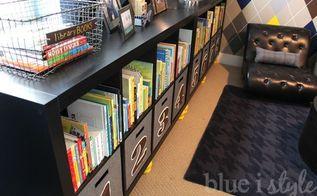 diy numbered storage bins, organizing, storage ideas