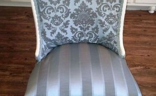 upcycled chair to french country bedroom chair, painted furniture, repurposing upcycling, reupholster