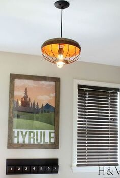 diy chicken feeder pendant light, how to, lighting, repurposing upcycling