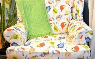 how to reupholster a wing back chair, how to, painted furniture, reupholster