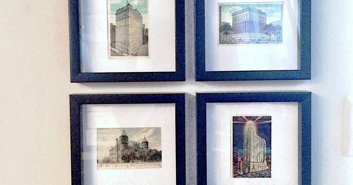 vintage postcard gallery diy matte frames hometalk