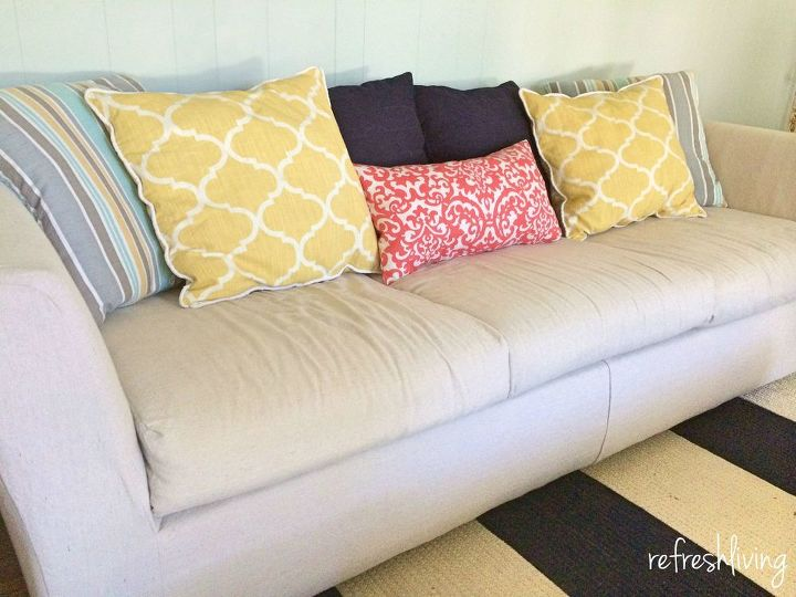 Reupholster Sofa Cushions Do It Yourself Divas Diy Strip Fabric From A Couch And Reupholster
