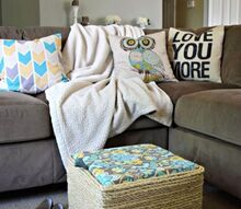 diy sisal rope storage ottoman, how to, organizing, repurposing upcycling, storage ideas, reupholster