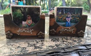 diy photo coasters and wood storage and display box, crafts, decoupage, how to, woodworking projects, Completed DIY Photo Coasters and Display Box