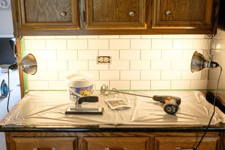 subway tile with glamour grout backsplash how to kitchen backsplash