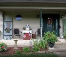 rustic porch decor, gardening, outdoor living, porches, repurposing upcycling
