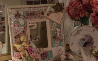 repurposing broken china to create memory frames, crafts, repurposing upcycling