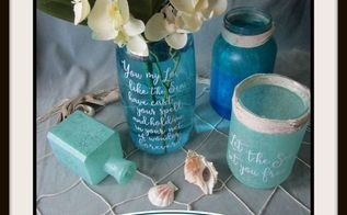 faux sea glass jars summer centerpieces, crafts, how to, mason jars, repurposing upcycling