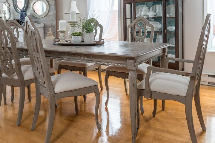 Dining Room Table Detailed Makeover Chalk Paint Painted Furniture Repurposing Upcycling