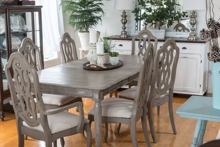 dining room table detailed makeover chalk paint painted furniture