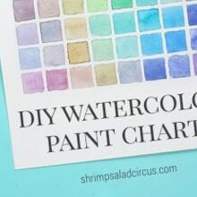 diy watercolor paint chart art, crafts, how to