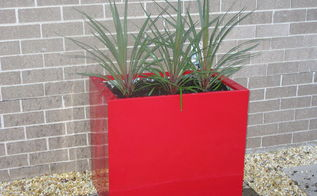 fancy red planter made from free two drawer metal filing cabinet, container gardening, gardening, repurposing upcycling