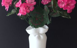 wonky foam cup vases, crafts, flowers, how to, repurposing upcycling