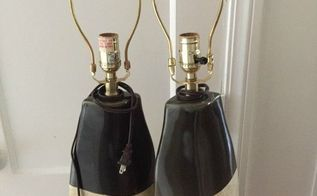 diy lamp makeover, how to, lighting, painting, repurposing upcycling