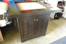 repurposed table to new kitchen island, chalk paint, how to, kitchen design, kitchen island, repurposing upcycling