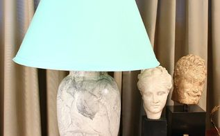marbled thrift store lamp, crafts, how to, lighting, painting