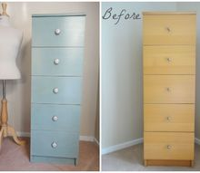 ikea hack of my bedroom tallboy, chalk paint, painted furniture