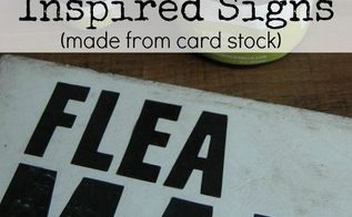 vintage inspired signs made from foam board, crafts, how to, wall decor