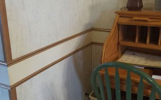 q removing chair rail in mobile home, home improvement, wall decor, Chair rail runs through the entire living room and dining room