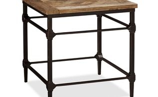 industrial table inspired by pottery barn, painted furniture, repurposing upcycling, Pottery Barn Inspiration