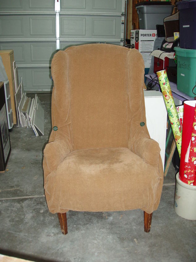 How To Reupholstered Chair Hometalk