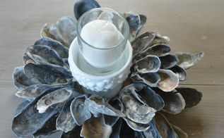 diy tutorial create an oyster shell centerpiece, crafts, how to, repurposing upcycling