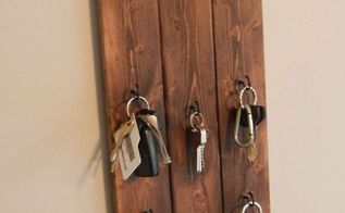 diy hanging key holder, crafts, diy, how to, organizing, woodworking projects