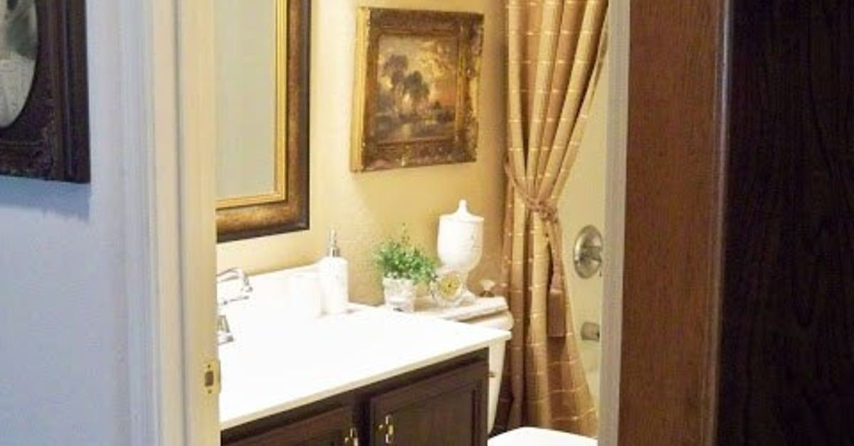 Bathroom vanity makeover step by step tutorial hometalk for Steps to painting a bathroom