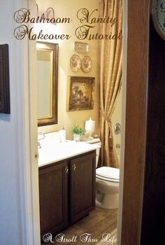 bathroom vanity makeover step by step tutorial, bathroom ideas, how to, painting