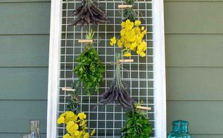 herb drying rack repurposed from a picture frame, flowers, gardening, how to, repurposing upcycling