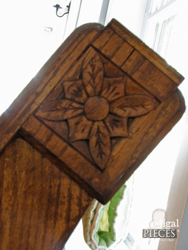 weathered antique church pew turned gorgeous in minutes, painted furniture,  repurposing upcycling, woodworking