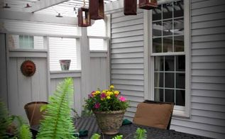 upcycled maple syrup can lanterns, lighting, outdoor living, repurposing upcycling