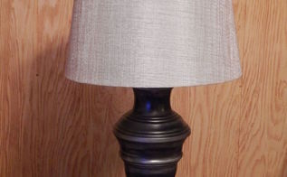 thrift store lamp gets a total makeover, lighting, painting, reupholster