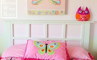 diy headboard, bedroom ideas, diy, home decor, how to, painted furniture, woodworking projects