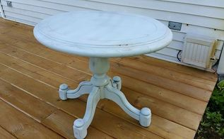 old side table upcycle, chalk paint, painted furniture, repurposing upcycling