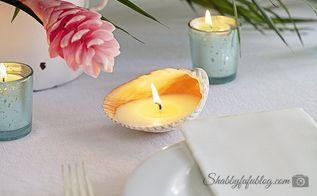 creating seashell candles diy beachideas, crafts, how to, A gorgeous glow
