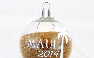 beach sand ornament, christmas decorations, crafts, how to, repurposing upcycling, seasonal holiday decor
