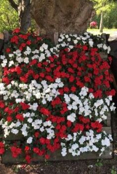 pallet planters, flowers, gardening, pallet, repurposing upcycling