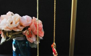 diy industrial pipe jewelry stand make this, crafts, organizing
