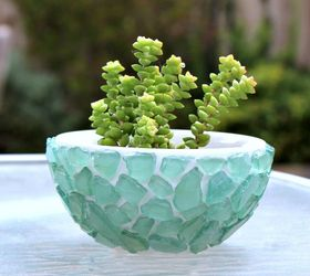 Attractive Diy Sea Glass Bowl, Container Gardening, Crafts, Gardening, Home Decor, How