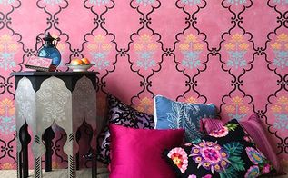 how to stencil an exotic indian retreat space, chalk paint, how to, painting, wall decor