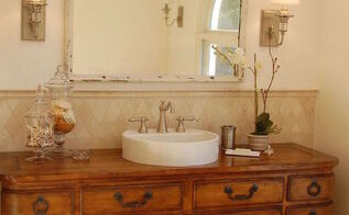 80s bath makeover, bathroom ideas, repurposing upcycling