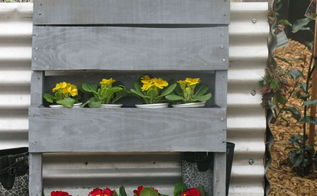 timber pallet planter vertical garden, container gardening, gardening, pallet, repurposing upcycling, woodworking projects