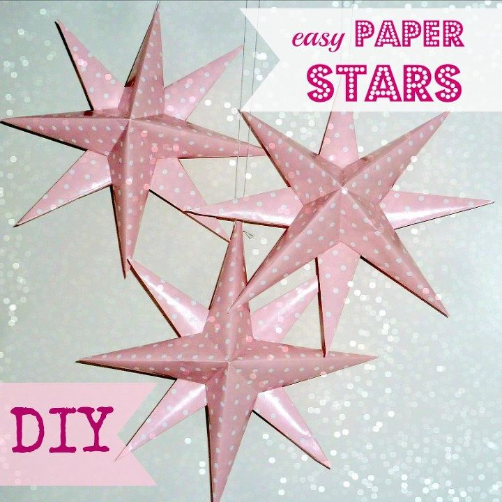 Easy Diy Paper Stars Home Decor Crafts How To Diy Paper Stars You
