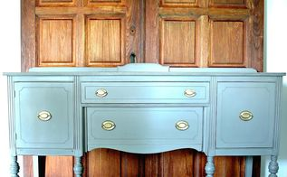 cobblestone buffet makeover, painted furniture