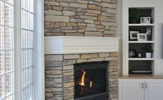 how to update your fireplace with stone, concrete masonry, fireplaces mantels, how to