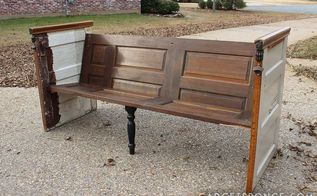 repurposed vintage door church pew bench, diy, how to, painted furniture, repurposing upcycling